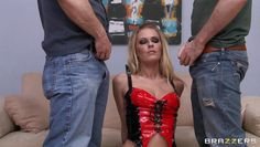 blonde mistress dominating two guys