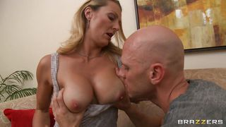 brenda james is getting hot and ready on the couch