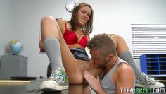 pretty brunette fucked by her teacher at school