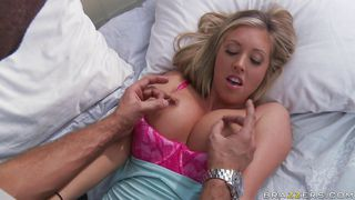 hot blonde gets her tits massaged