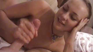 amazing blowjob by a hot babe!