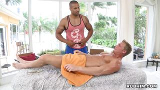 massage transforming into a prostate exam