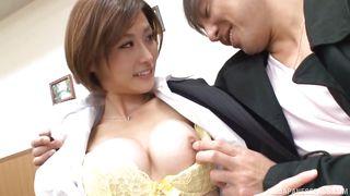 naughty asian slut gets dirty at work