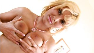 blonde milf masturbating with her favorite dildo