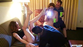 kassius and alex turn drinking party into a cocksucking party