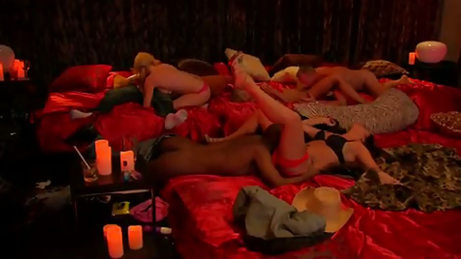 Swing reality show group masked lingerie 8