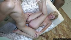 hot blonde babe is getting her ass fucked