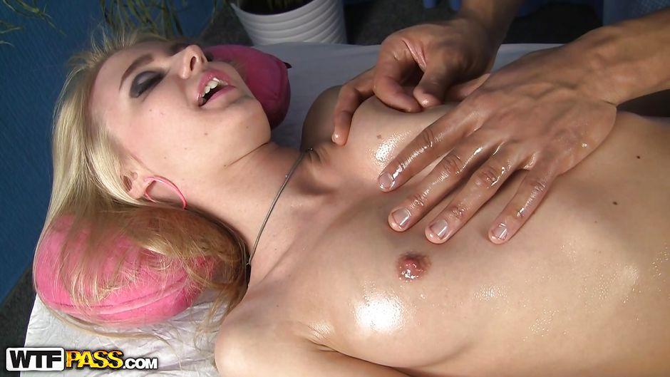 Monster, she redhead oily massage ass