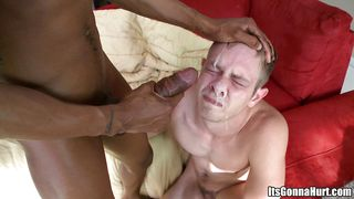 a white gay gets a cumshot