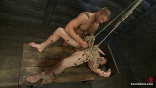 guy gets bareback in dominating bondage