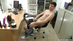 horny guy sucks cock in the office