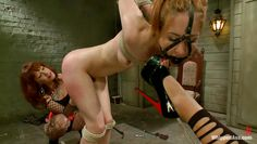 maitresse madeline and skin diamond go punish a sex slave