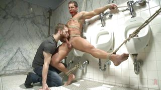 rod got gagged in public toilet