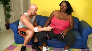 trainer fucks his black ssbbw client