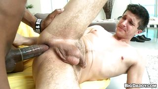two horny guys having an interracial gay fuck