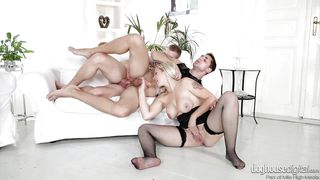 blonde slut turns her boyfriend into a gay cuckold @ bi-sexual cuckold #07