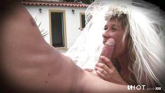 bride sucks her husband's cock