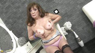 friend's hot mom showing her tits and masturbating pussy