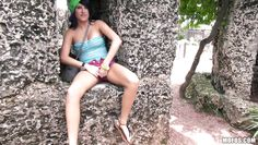 nikki masturbating to a tree