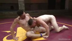 nude boys fight in the arena