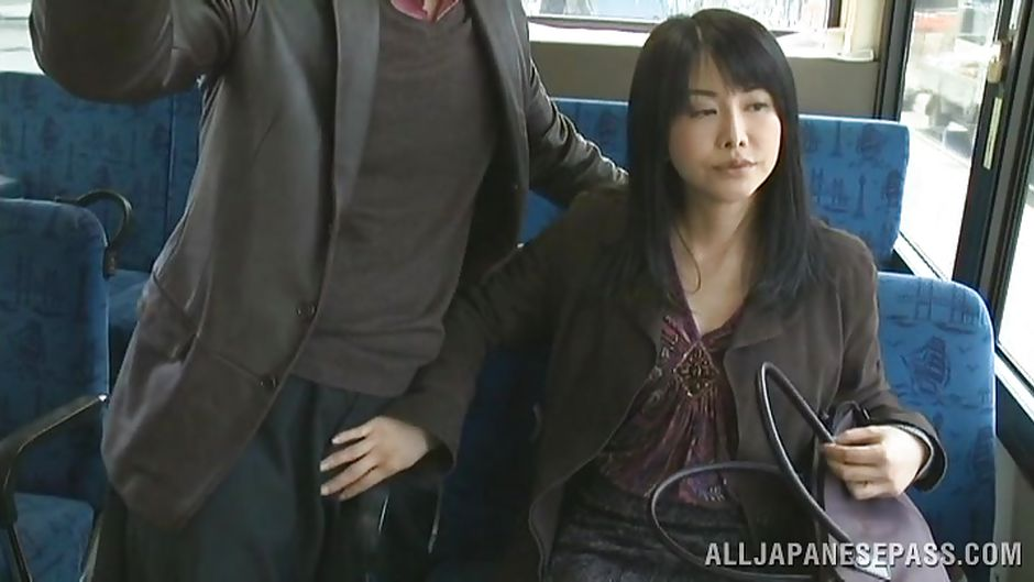 handjob on bus