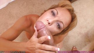 mature woman is enjoying the cock