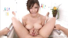 anri gives a great massage with her huge tits