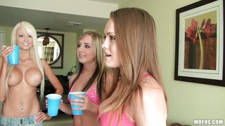 three hot babes having fun