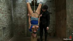 upside down blonde and her tied pussy