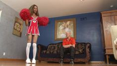 ebony t-cheerleader sucks a dong @ transsexual cheerleaders #15