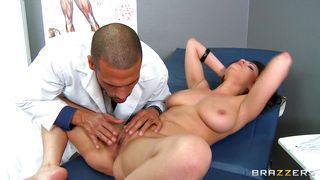 doctor gives the perfect treatment to a hot brunette