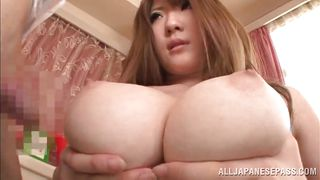 japanese slut gives an amazing tit fuck