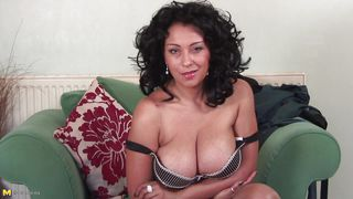 european mature with huge breasts could use a cock