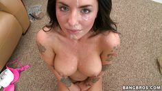 hot tattooed babe gets fucked