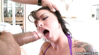 sexy brunette for my huge cock