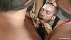 horny guy handles three erect cocks