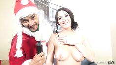 noelle masturbates in front of santa