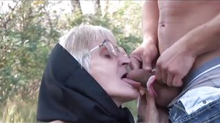 granny fucks outside @ hey my grandma is a whore 21