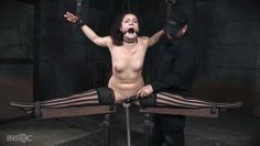 frightened lady gets restrained and aroused