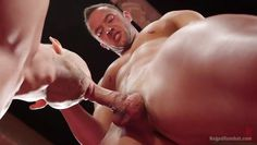 sexy hunk gets dominated and mouth fucked