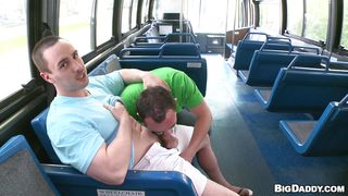 naughty gays sucking cock in bus