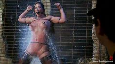 sexy ariel receiving a powerful water jet on her cunt