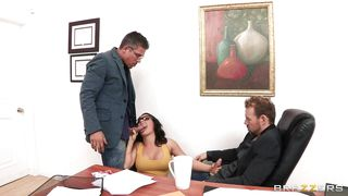 threesome at the office interview