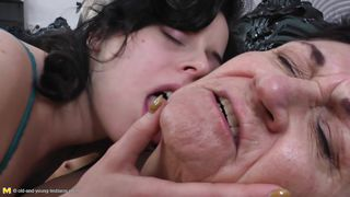 two mature lesbians have their eye on a young one