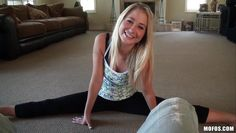gymnast girl warms up
