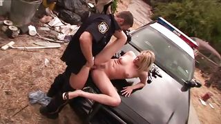 blonde delinquent chick getting fucked by cop