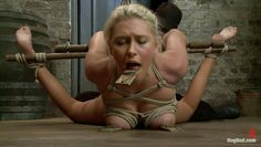pretty blonde tied and punished