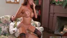 danni cole gets nailed in the office on the couch!