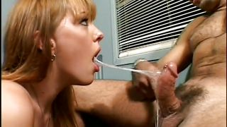 warm jizz drops from her lips @ foul mouth sluts 1