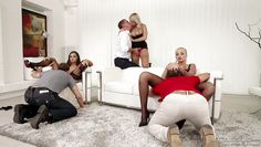 three horny couples start a hot sex party